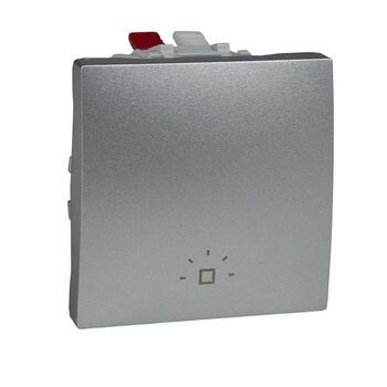 Tlačidlo (1/0) 10AX/250V 2M pikt.sv. (PS) hliník Unica (Schneider)