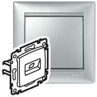 Zásuvka dátová 2xRJ45 Cat.6 FTP (LCS) hliník Valena (Legrand)