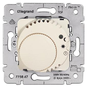 Termostat priestorový 8(4)A/230V 1NC sign. otoč. - prístroj biela Galea Life (Legrand)