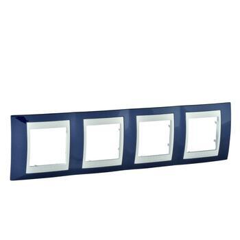 Rámček 4-násobný indigovomodrá/biela Unica Plus (Schneider)