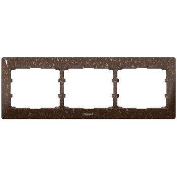Rámček 3-násobný CORIAN® Cocoa Brown Galea Life (Legrand)