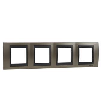Rámček 4-násobný meď matná/grafit Unica Top (Schneider)