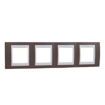 Rámček 4-násobný fialová svetlá/biela Unica Plus (Schneider)