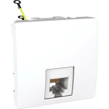 Zásuvka telefónna 1xRJ12 2M (SS) biela polárna Unica (Schneider)
