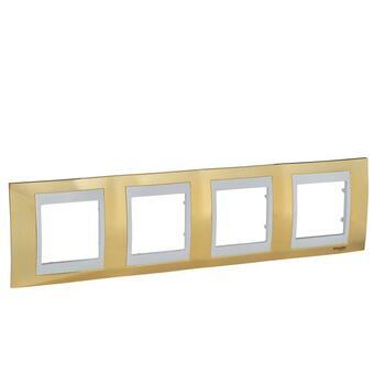 Rámček 4-násobný zlatá/slonovinová Unica Plus (Schneider)