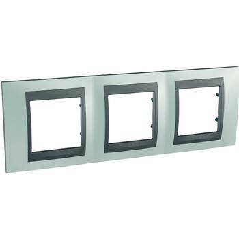 Rámček 3-násobný zelená mat.metal./grafit Unica Top (Schneider)