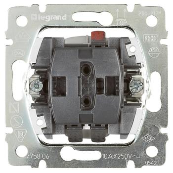Ovládač žalúzií/roliet spínačový 10A/250V mech.blok. - prístroj Galea Life (Legrand)