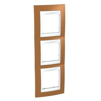 Rámček 3-násobný vert. oranžová/biela Unica Plus (Schneider)