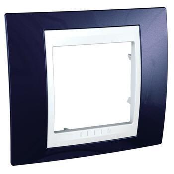 Rámček 1-násobný indigovomodrá/biela Unica Plus (Schneider)