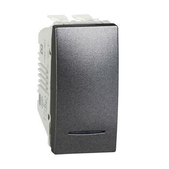 Prepínač krížový (7So) 10AX/250V 1M (PS) grafit Unica (Schneider)