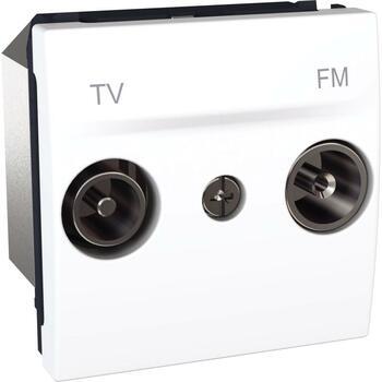 Zásuvka TV/R priebežná 2M biela polárna Unica (Schneider)