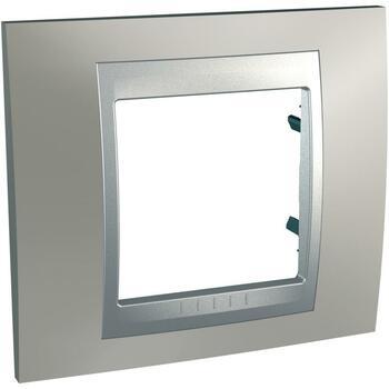 Rámček 1-násobný nikel matný/hliník Unica Top (Schneider)