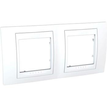 Rámček 2-násobný biela/biela Unica Plus (Schneider)