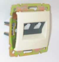 Zásuvka telefónna 2xRJ11 béžová Valena (Legrand)