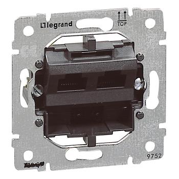 Zásuvka dátová 2xRJ45 Cat.5e UTP - prístroj Galea Life (Legrand)