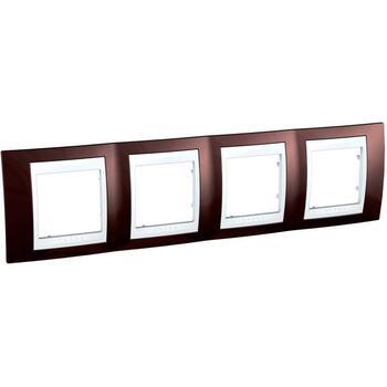 Rámček 4-násobný terakotová/biela Unica Plus (Schneider)