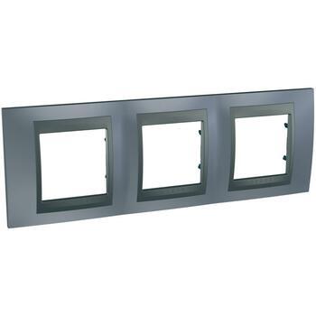 Rámček 3-násobný sivá mat.metal./grafit Unica Top (Schneider)