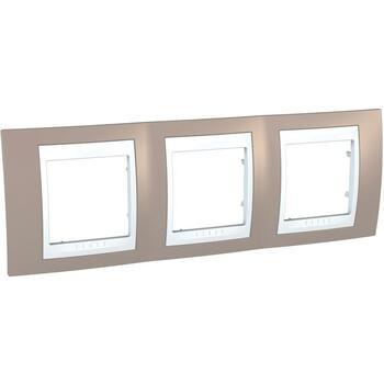Rámček 3-násobný sivobéžová/biela Unica Plus (Schneider)
