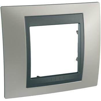 Rámček 1-násobný nikel matný/grafit Unica Top (Schneider)