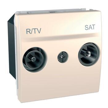 Zásuvka TV/R/SAT priebežná 2M slonovinová Unica (Schneider)