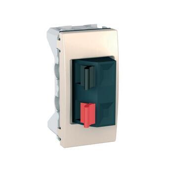 Zásuvka reproduktorová 1-násobná 1M (PS) slonovinová Unica (Schneider)