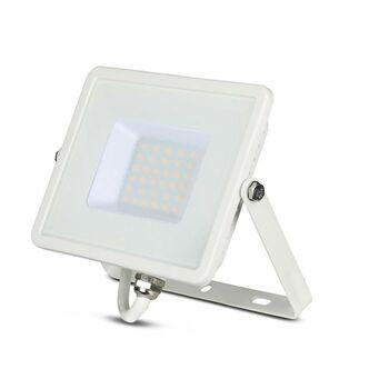 Reflektor LED PRO Slimline 30W, 3000K, 2400lm, IP65, hliník-biela, VT-30-W (V-TAC)