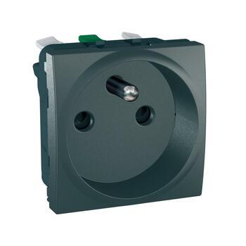 Zásuvka 2P+T/16A/250V 2M clonky (PS) grafit Unica (Schneider)