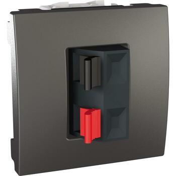 Zásuvka reproduktorová 1-násobná 2M (PS) grafit Unica (Schneider)