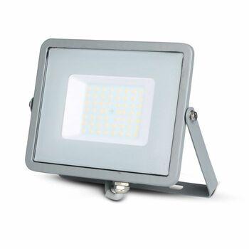 Reflektor LED PRO Slimline 50W, 4000K, 4000lm, IP65, hliník-sivá, VT-50-G (V-TAC)
