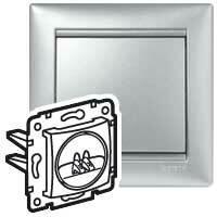 Zásuvka reproduktorová 1-násobná (PS) hliník Valena (Legrand)
