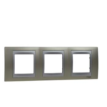 Rámček 3-násobný opál matný/hliník Unica Top (Schneider)