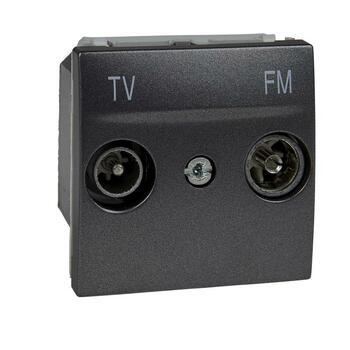 Zásuvka TV/R samostatná 2M grafit Unica (Schneider)
