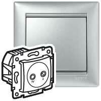 Zásuvka TV/R priebežná 1,5dB hliník Valena (Legrand)