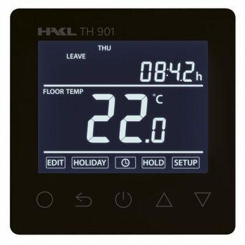 Dotykový termostat TH 901 s duálnym čidlom, čierny (HAKL)