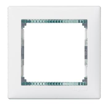 Rámček 1-násobný biela/priehľ.pásik Valena (Legrand)