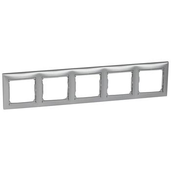 Rámček 5-násobný hliník Valena (Legrand)