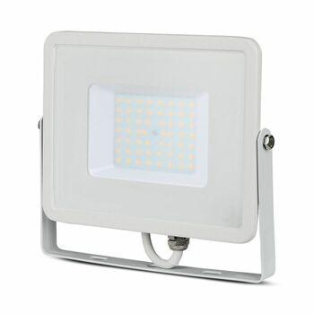 Reflektor LED PRO Slimline 50W, 6400K, 4000lm, IP65, hliník-biela, VT-50-W (V-TAC)