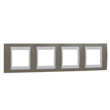 Rámček 4-násobný sivobéžová/biela Unica Plus (Schneider)