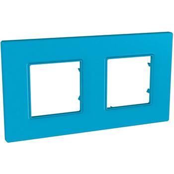 Rámček 2-násobný modrá Unica Quadro Natura (Schneider)