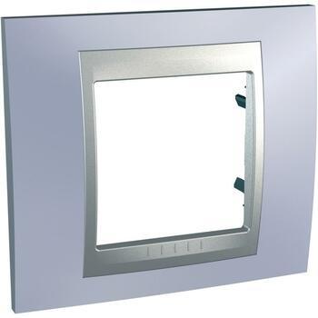 Rámček 1-násobný modrá mat.metal./hliník Unica Top (Schneider)