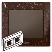 Rámček 2-násobný CORIAN® Cocoa Brown Galea Life (Legrand)