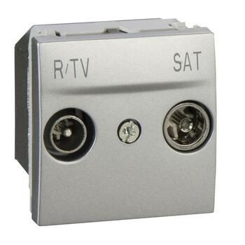 Zásuvka TV/R/SAT priebežná 2M hliník Unica (Schneider)