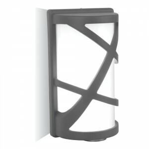 Svietidlo E27 60W, IP54, Al/sklo-sivá tmavá, VS-F, 145x295, VT-745 (V-TAC)
