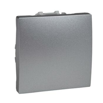 Tlačidlo (1/0) 10AX/250V 2M (PS) hliník Unica (Schneider)