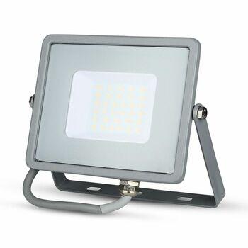 Reflektor LED PRO Slimline 30W, 4000K, 2400lm, IP65, hliník-sivá, VT-30-G (V-TAC)