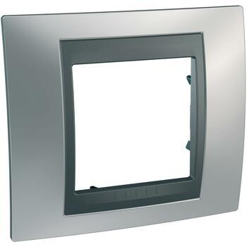 Rámček 1-násobný chróm matný/grafit Unica Top (Schneider)